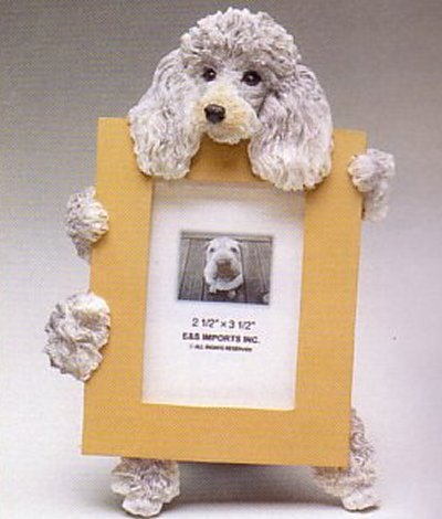 "Poodle, Silver - Dog Photo Frame 2 1/2"" x 3 1/2"""