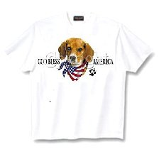 Beagle - T Shirt - God Bless America
